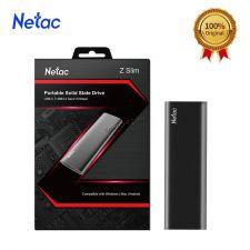 Внешний SSD накопитель 500Gb Netac Z slim, m.2, USB3.1 Type-C+переходники, чехол Купить
