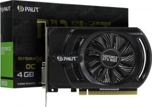 Видеокарта GeForce 1650GTX SUPER 4Gb <PCI-E> Palit StormX OC 128bit DDR6 HDMI, DVI Retail Купить