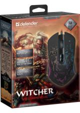 Мышь Defender Witcher GM-990 RGB игровая 7 кнопок, 3200dpi подсветка (чёрный) Цена