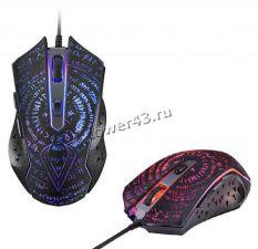 Мышь QUMO Valhalla M35, проводная, игровая, 6 кнопoк, подсветка RGB, 1200 /1600 /2400 /3200dpi Купить
