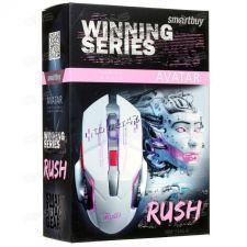 Мышь Smartbuy RUSH Avatar SBM-724G, 6 кнопок, 1200 /1600 /2400 /3200dpi USB с подсветкой, белая Цена
