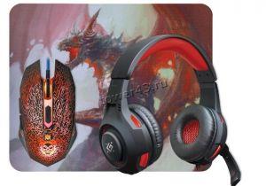 Набор игровой Defender DragonBorn MHP-003/52003 (Гарнитура +Мышь +Коврик) Купить