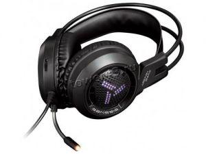 Наушники+Микрофон Qumo Genesis GHS 0012, игровые, подсветка 7цв., USB + 2х3,5 jack, динамики 40мм Купить
