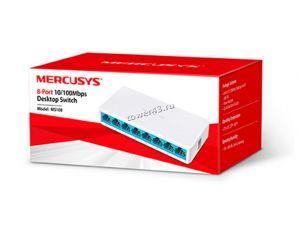 Коммутатор Mercusys MS108, 8 портов, пластиковый корпус, 10/100 Swith Retail Купить