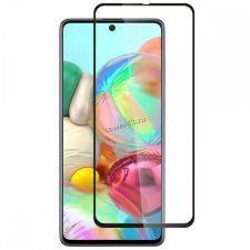Защитное стекло на экран для Samsung A51 черный Full тех.упаковка Купить