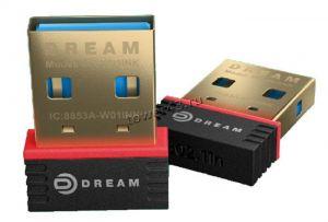 Сетевая карта беспроводная DREAM W01 USB 150Мбит/с, 20dBi, WiFi, мини, черный Купить