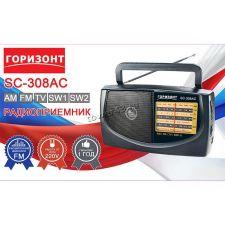 Радиоприемник Горизонт SC-308AC /408AC /409AC USB /microSD /FM /AUX Купить