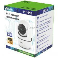 IP камера RITMIX IPC-110 WiFi 1Mp, поворотная, детек.движ, голос.связь, ночн видение, microSD Цены