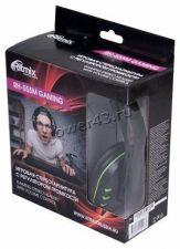 Наушники+микрофон Ritmix RH-555M игровые  black закрытого типа, регулятор громкости Цена
