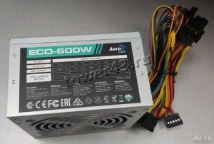 Блок питания Aerocool 600W ATX ECO-600 6+2xPCI-Ex4 +12VA -46A FAN12cm switch RTL Цена