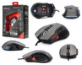Мышь CROWN MICRO CMXG-711 TITAN USB 4000dpi 8 кнопок, макросы черная Купить