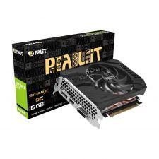 Видеокарта GeForce 1660GTX SUPER 6Gb STORMX OC <PCI-E> DVI HDMI DP DDR6-192Bit Palit Retail Купить