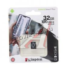 Память micro SDHC 32Gb class10 Kingston, UHS-I SDCS2/32GBSP, до 100Mb/s, без адаптера Retail Купить