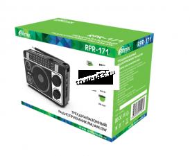Радиоприемник RITMIX RPR-171 СВ, КВ, УКВ, питание от сети, USB, microSD, AUX черный Цена