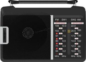 Радиоприемник RITMIX RPR-190, 4 диапазона, питание от сети или батареек, черный Купить