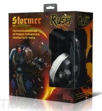 Наушники+Микрофон SmartBuy RUSH STORMER LED-подсветка, игровые, 50мм, усил.шумоизоляция Цена