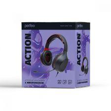 Наушники+микрофон Perfeo ACTION игровые, 50мм динамики, шнур 1.8м, 2х3.5мм Цена