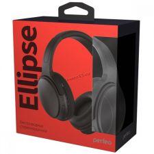 Наушники+микрофон полноразмерные Perfeo ELLIPSE, MP3 плеер, AUX, до10ч, FM, проводной режим, черные Цена