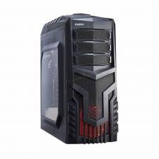 Корпус MidiTower EXEGATE EVO-8203N-RED Black, ATX, NoPSU, 2xU2, 1xU3, 1xLED Fan 120mm, 1xFan 120mm Купить