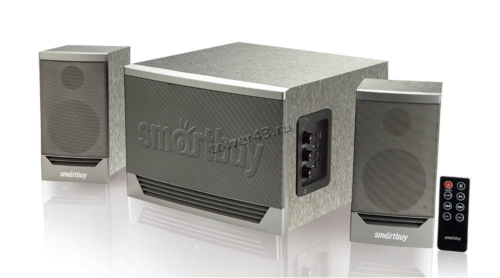 Колонки SmartBuy GOLIATH, 2.1, Bluetooth, FM, MP3, 50W, пульт, мультимедийная,серый