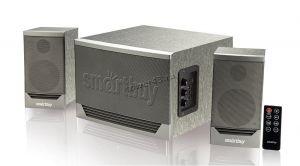 Колонки SmartBuy GOLIATH, 2.1, Bluetooth, FM, MP3, 50W, пульт, мультимедийная,серый Купить