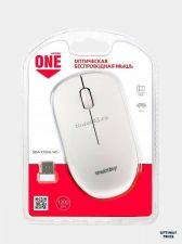 Мышь Smartbuy ONE 370AG беспроводная бело-серебристая Цена
