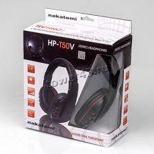 Наушники NAKATOMI HP-T50V с регулятором громкости, шнур 2.2м, тканевая оплетка кабеля Цена