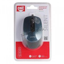 Мышь Smartbuy ONE 265-K беззвучная USB, 2400dpi, шнур 1.5м Купить