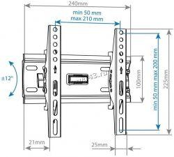 "Кронштейн ARM Media PLASMA-6 new настенный 15""-47"" 35 кг 12/+12° Цена"