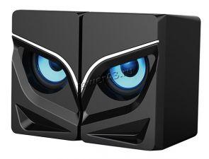 Колонки Qumo Rage AS005, 10 ВТ, объемное звучание, синяя подсветка (отключаемая), USB+Jack 3,5мм Купить