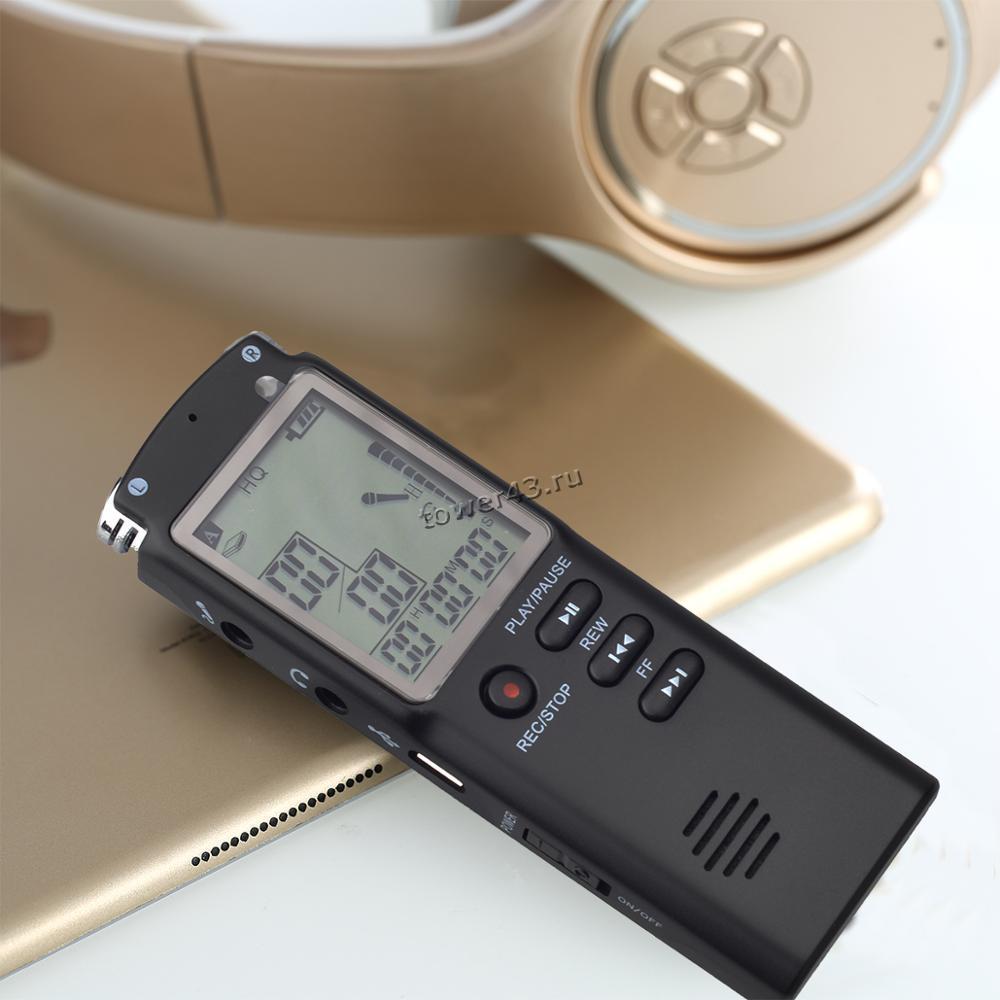 Диктофон цифровой Savetek GS-T60 8Gb (динамик, 2 микр, MP3, дисплей, USB, актив. голосом, наушники)