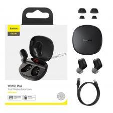 Наушники+микрофон вкладыши BASEUS ENCOK WM01 PLUS, с зарядным боксом беспроводные Купить
