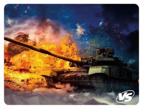 Коврик для мыши VS Flames/Tanks (240х320х3мм) резина + ткань +оверлочная обработка края Цены