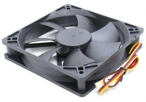 Вентилятор 120x120х25, 3пин, 25dBa, 1200rpm, black (подшипник качения) Купить