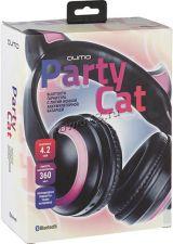 Наушники+микрофон полноразмерные Qumo Party Cat, BT5.0, 360mAh, до 14ч, черный +ушки с подсветкой Цена