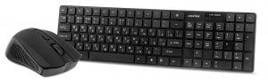 Комплект беспроводной Smartbuy клавиатура+ мышь 229352AG, 1600 DPI, оптический, USB, черный Купить