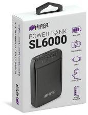 Внешний мобильный аккумулятор HIPER SL-6000 6000mAh, 2.1А+2.1A, LiPol Цена