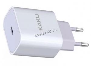 Сетевое зарядное устройство 220В -> USB Type-C KAKU KSC-500 (PD 3.0 20W 6V-3.0A/9V-2.22A/12V-2.22A) Купить