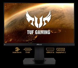 "Монитор 23.8"" ASUS TUF Gaming VG249Q IPS 1920x1080 144Hz FreeSync 350cd/m2 1ms DP HDMI колонки 178гр Цены"