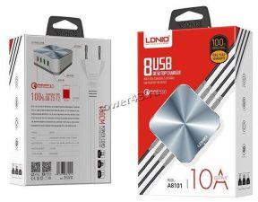 Сетевая зарядная станция LDNIO A8101 на 8 USB портов/ QC 3.0/ Выход: 5V_9V_12V, 50W Цена