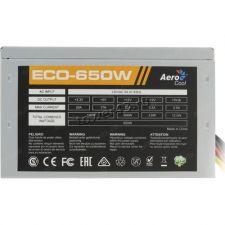 Блок питания Aerocool 650W ATX ECO-650 4+4CPU 6+2xPCI-E 5xSATA +12VA -50A FAN12cm AFC switch RTL Цена