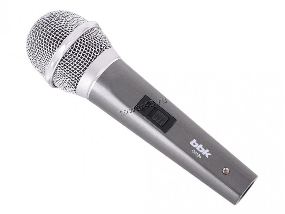 Микрофон BBK CM124, шнур 3м, для караоке