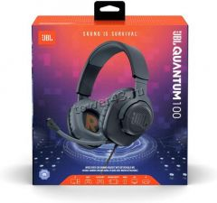 Наушники+микрофон JBL Quantum 100, игровые, 4pin, шнур 1.2м, рег.громкости, съемный микрофон Купить