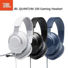 Наушники+микрофон JBL Quantum 100, игровые, 4pin, шнур 1.2м, рег.громкости, съемный микрофон Цена