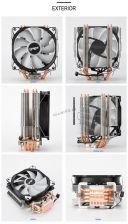 Вентилятор CYMYE C400 all Socket, 4тепл.труб, 23-89CFM, 900-1400об, PWM, 18-22dB, вент.120мм Купить