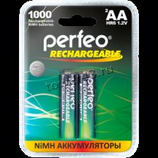 Аккумуляторы AA 1000mAh PERFEO, 2шт. Купить