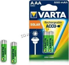 Аккумуляторы LR3/ААА 550mAh VARTA SOLAR, 1.2V, 2 шт Купить