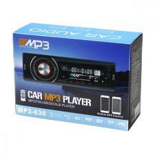 Автомагнитола BTMP3 630/633, 1DIN, 4x50W, bluetooth, FM,MP3, USB, цветная LED подсветка, фикс.панель Цена