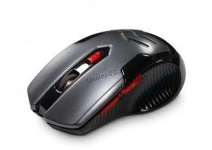 Мышь Smartbuy RUSH Ironclad беспроводная. 6 кнопок, 800 /1200 /1600dpi, 2ААА, серебристо-черная Купить