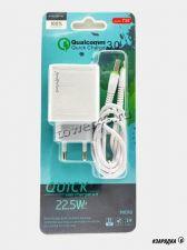Сетевое зарядное устройство 220В -> Type-C 22.5W Quick Charge 3.0 6V-3.0A/9V-2.0A/12V-1.5A MAIMI T30 Купить